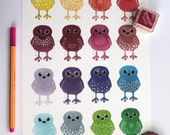 Sale A4 Rainbow Doodle Birds Print