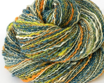 Handspun Yarn - Merino and Silk Yarn - Hand Spun Yarn - Sport - 1.16oz, 156yd, 20 WPI,