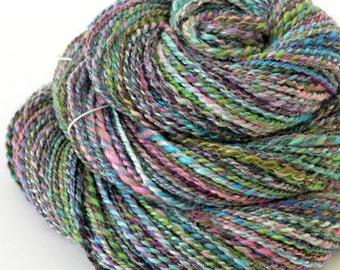 Handspun Yarn - Rainbow Merino Yarn - Art Yarn- 1.75oz, 140yd, 13WPI