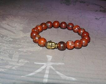 "Buddha Brecciated Jasper ""Clarity and Focus"" Reiki Bracelet"