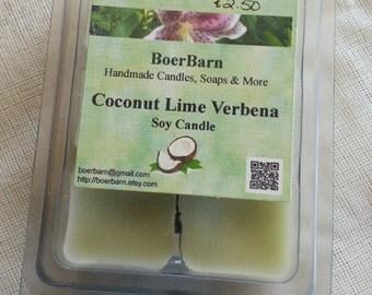 Coconut Lime Verbena Soy Clamshell Tart