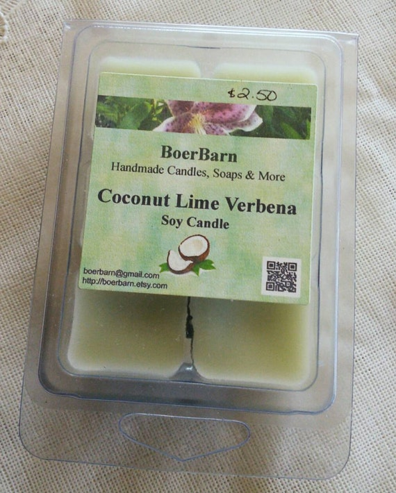 Coconut Lime Verbena Soy Clamshell Tart