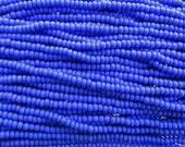 6/0 Opaque Blue Czech Glass Seed Bead Strand (CW194) SE