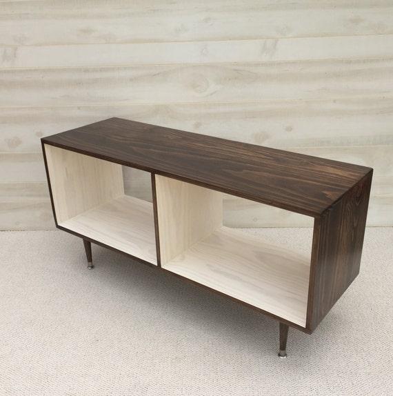 Mid Century Modern Record Vinyl Cabinet Media Table TV Stand