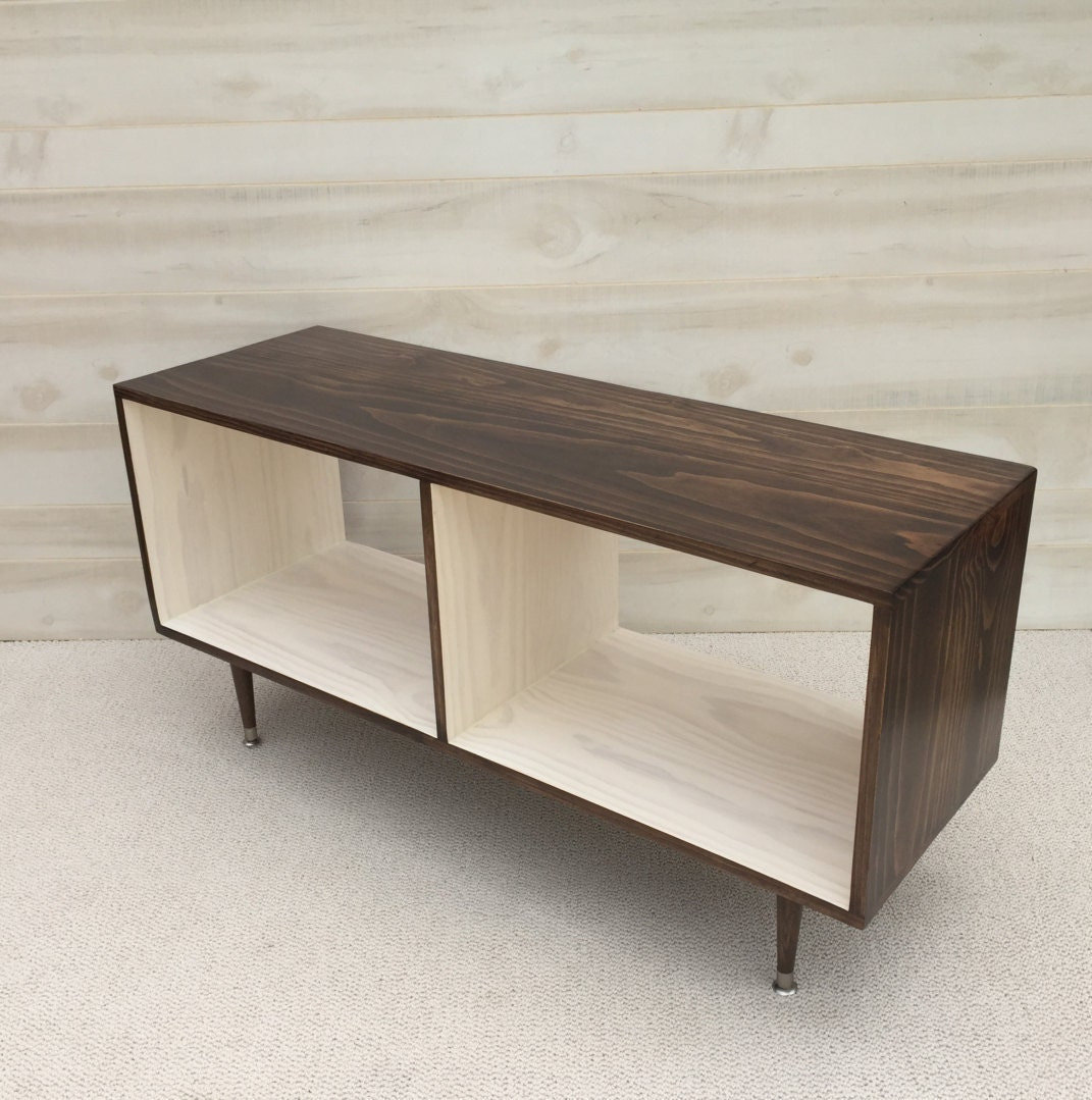 Mid century modern record vinyl cabinet media table tv stand zoom geotapseo Images