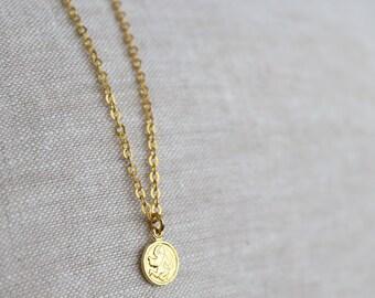 CLOSING SALE Aquarius Tiny Zodiac Necklace / Choose Your Length