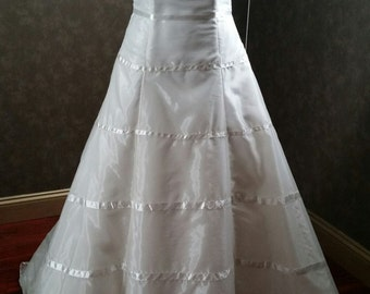 Modest Wedding Dress Bridal Gown Ivory Square Neck Ready to Ship
