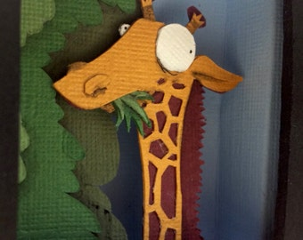 Giraffe Cut-Out Paper (Original Artwork)