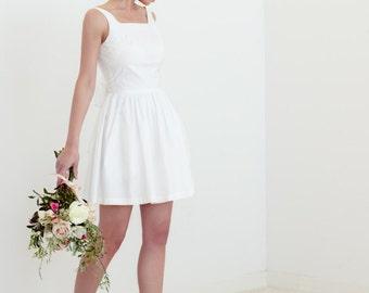Evie Dress in Cotton - Simple Short Wedding Dress