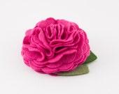 Hot Pink Dog Collar Flower
