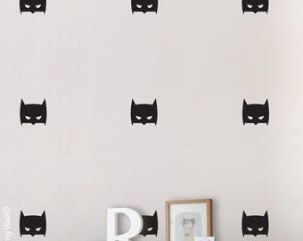 Batman Wall Sticker, Hero Wall Art For Boy Room, Super Hero Mask Wall Decal Part 61