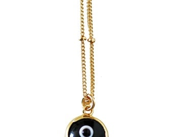 black evil eye necklace