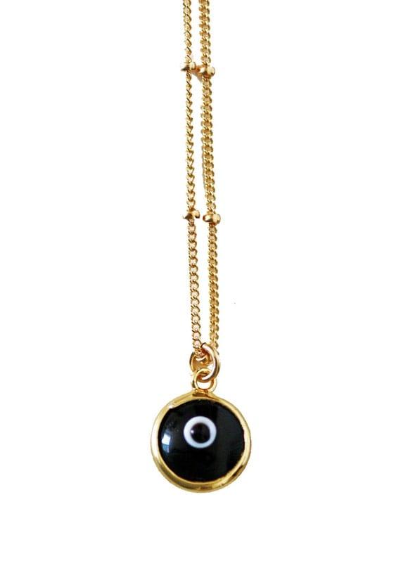 black evil eye necklace