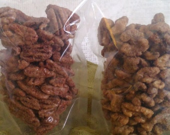 Maple Glazed Walnuts and Maple Cinnamon Pecans/Made with Vermont Maple Syrup