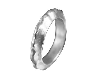 Chunky silver ring, unisex band ring, classic statement band, thin silver band, modern banf ring, sterling silver band, contemporary jewelry