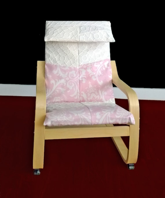 Simply Shabby Chic Chair Pads : Pink Shabby Chic IKEA KIDS POaNg Cushion Slipcover Ready to