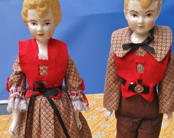 SALE!! Jack and Jill Repro China Dolls, vintage