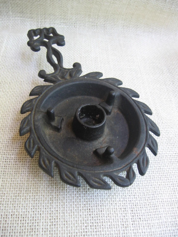 Wilton Cast Iron Candle Holder Trivet Black Candle Holder