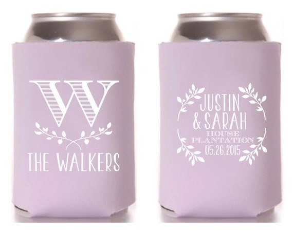 Personalized Can Coolers ~ Personalized can cooler wedding favor