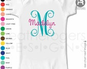 Monogram Newborn girl going home Outfit - new baby personalized bodysuit - great shower or new baby gift