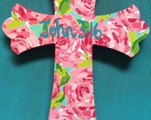 Lilly Pulitzer Print Cross
