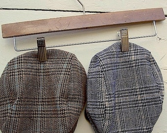 Boys Newsboy Hat in brown plaid Driving Cap, vintage style newsboy hats, wedding ring bearer hat