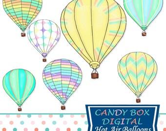 Hot air balloon clipart – Etsy