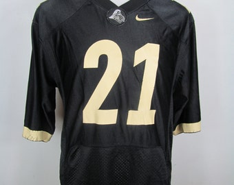90s Black Tan Nike Football Sport Goth Vintage Jersey