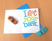 Printable Card for Car Play Mat Shirt, Card for Dad, Father's Day Card, From Son, From Daughter