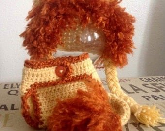 Crochet Lion Hat (Hat Only)