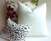 One White Linen Pillow Cover Linen Cushion Cover white zippered pillow all white solid pillow 12x21 22x22 26x26 20x20-MWAJ