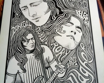 Rory Gallagher Poster by Posterography