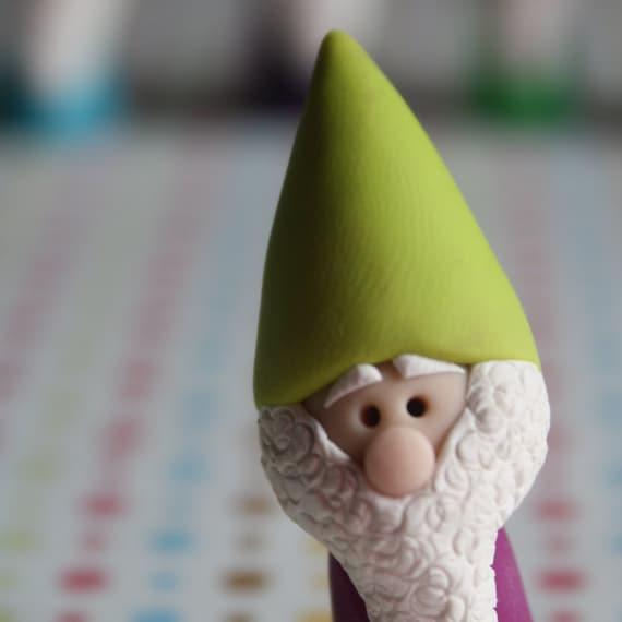 Mini Gnome - Polymer Clay Miniature