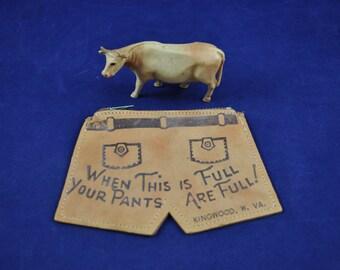 Leather Coin Purse Funny Souvenir Pants Full Kingwood West Virginia