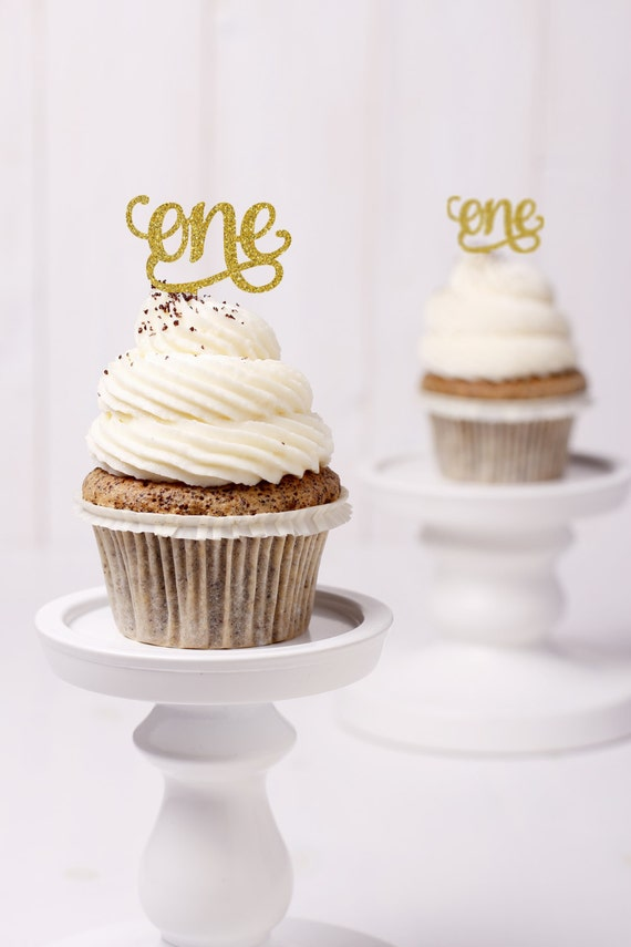 one cupcake topper