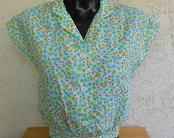 Vintage 70s Cal Togs Summer Crop Top Small S