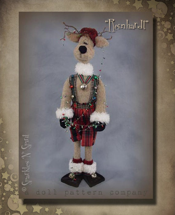 """Pattern: Reinhardt - 27"""" Reindeer, Christmas"""