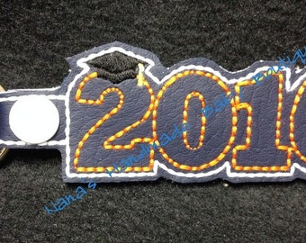 2016 Graduation SNAP Key Fob In The Hoop - DIGITAL Embroidery DESIGN