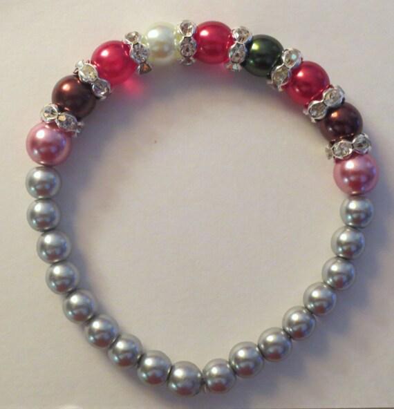 Custom Birthstone Pearl Bracelet Custom Mother Bracelet