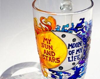 Moon of my Life My Sun and Stars, Game of Thrones Mug Dothraki Coffee Cup, Couples' Mug