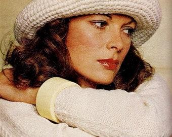 Roll Brim Hat Vintage Crochet Pattern Download