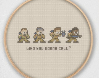Who You Gonna Call? Ghostbusters Cross Stitch Pattern - Instant Download PDF