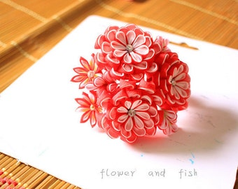 Janpanese kanzashi hair accessory, bridal hair pin, wedding hair pin, bridal hair flower, wedding Headpiece, wedding hair pins
