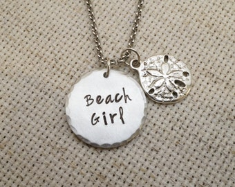 Beach Girl Necklace | Beach Jewelry | Daughter Necklace | Friend Gift | Beach Girl Jewelry | Birthday Gift | Beach Necklace