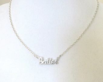 Ballet  Love to Dance Ballerina Necklace You Choose Necklace Length