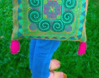 Ethnic Hmong Bag - Boho Crossbody Bag - Hipster Bag - Gypsy Tribal Bag ( FREE SHIPPING WORLDWIDE )