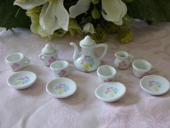 Oh So Adorable Vintage Tea Set : ... Vintage Strombecker Barbie Tea Set - Tea for Four - No Damages - So