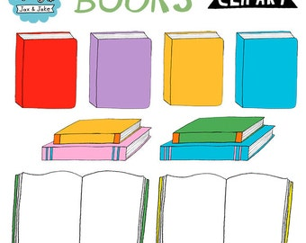 Hand Drawn Books Clipart for Personal and Commercial Use