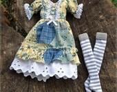 Pullip   Dress    and Striped Stockings  Vintage style   BJD dolls