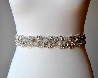 SALE Bridal Belt All around Crystal Bridal Sash Rhinestone Sash  Wedding Dress Belt  Bridal Bridesmaid Sash Belt Wedding dress sash